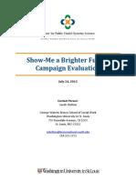 Show-Me a Brighter Future Evaluation Report
