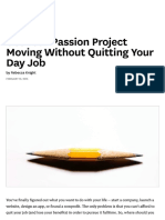 Get Your Passion Project...Ting Your Day Job - HBR