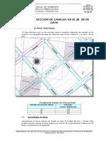 Calculo hidráulico - cambio de sección en canales