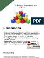 Distribución de Áreas de Apoyo de Una Empresa