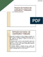 5.Metrado de Muros de Albañileria y Tabiques