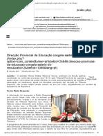 Direcção Provincial Da Educação Congela Salário Do _revú_ - Club-K Angola