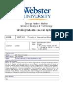 MNGT 3450 Principles of Organizational Behavior