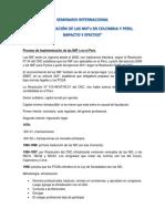 Implementación de Las NIIF