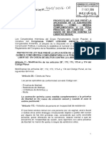 Proyecto de Ley Nº 460/2016-CR