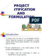 PROJECT IDENTIFICATION AND FORMULATION