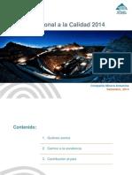 Presentación Antamina_Premio Nacional Calidad_Publicar