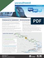 Sydney Metro City Southwest Chatswood to Sydenham EIS Newsletter
