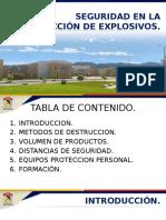 SEGURIDAD DESTRUCCIÓN DE EXPLOSIVOS