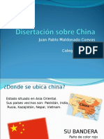 Disertación Sobre China
