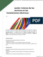 Colores de Los Cables Eléctricos en Las Instalaciones Eléctricas. - FARADAYOS