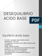 Desequilibrio Acido Base