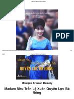Madam Nhu Trần Lệ Xuân Quyền Lực Bà Rồng - Monique Brinson Demery