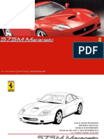 Ferrari 575 Owner Maintenance Manual