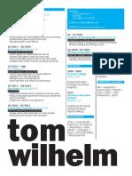 Wilhelm Tom - Resume 2016