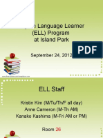 ELL Open House 2012