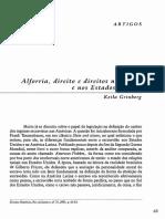 Alforria,  direito  e  direitos  no  Brasil  e  nos  Estados  Unidos