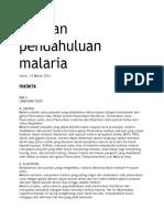 Laporan Pendahuluan Malaria