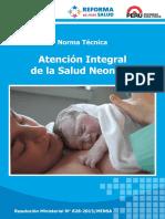NORMA TÉCNICA DE ATENCIÓN INTEGRAL DE LA SALUD NEONATAL