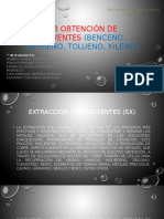 Obtención de Solventes (Benceno, Estireno, Tolueno, Xileno)