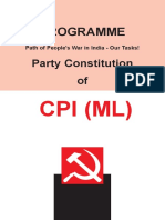 Programm Path and Constitution by CPI (ML) ND