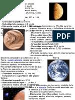 Los Planetas y Sus Caracteristicas