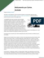 O Homem e o Medicamento Por Carlos Drummond de Andrade _ Farmacovigilância in Foco