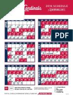 Cardinals 2016 Schedule