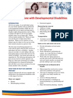 caring for someone with developmental disabilities 1
