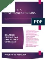 Urraca i e a Governança Feminina Qualificação