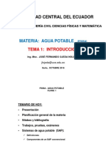 Tema 1 Introduccion Sistemas de Agua Potable S2-2016