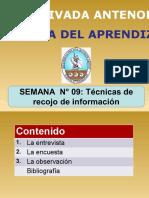 TÉCNICAS DE RECOGO DE INFORMACIÓN