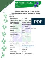 Formulir Pendaftaran Calon Anggota