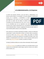 Sesion 01 - Introduccion a La Administracion y La Empresa