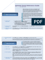 Project Management Quick Reference Guide for Project 2007