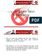 The Long Lost Gout Treatments