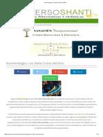 Numerología_ Los Siete Ciclos Del Año