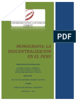 Monografia - La Descentralizacion en El Peru