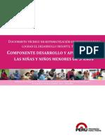 Componente Desarrollo y Aprendizaje de Las Niñas y Niños Menores de 5 Años