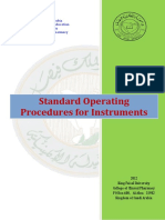 Standard Operating Procedure for Instruments