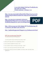 SAP Java Troubleshooting Monitoring