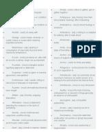 Lists of Vocabularies