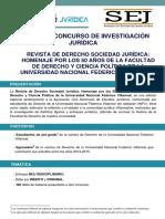 BASES DEL CONCURSO DE INVESTIGACIÓN JURÍDICA