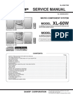 Sharp Xl-60w Xl-70w Micro Component System