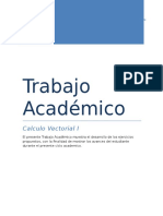 Trabajo Academico Desarrollado Calculo Vectorial I
