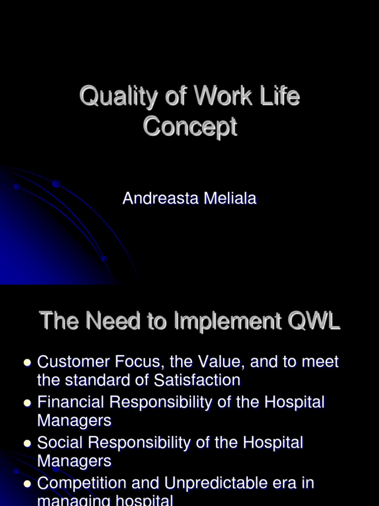 Slide Quality Of Work Life Concept Human Resource Management