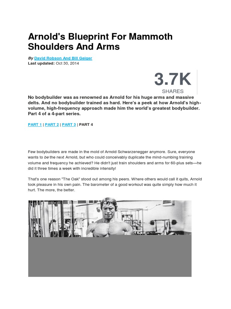 Arnolds blueprint for mammoth shoulders and arms sports nature malvernweather Gallery