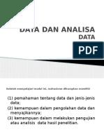 Data Dan Analisa Data