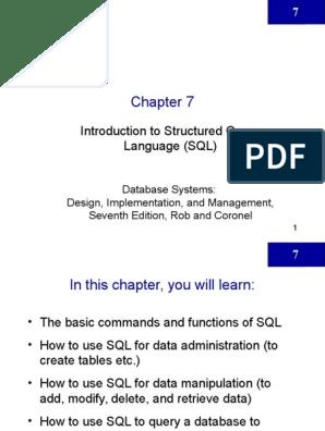 Sql Basics Ppt Sql Relational Database