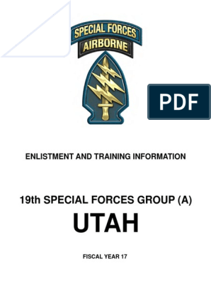 SF Enlistment and Training Information | Special Forces